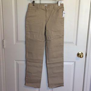 NWT Gap khaki uniform pants 16 regular NEW